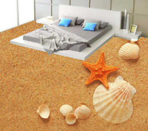 3D golden Sand Shells 55 Floor WallPaper Murals Wall Print Decal AJ WALLPAPER