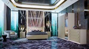 Letto Matrimoniale Lux.Dettagli Su Camera Da Letto Matrimoniale Completa Moderna Modello Lux Design Raffinato