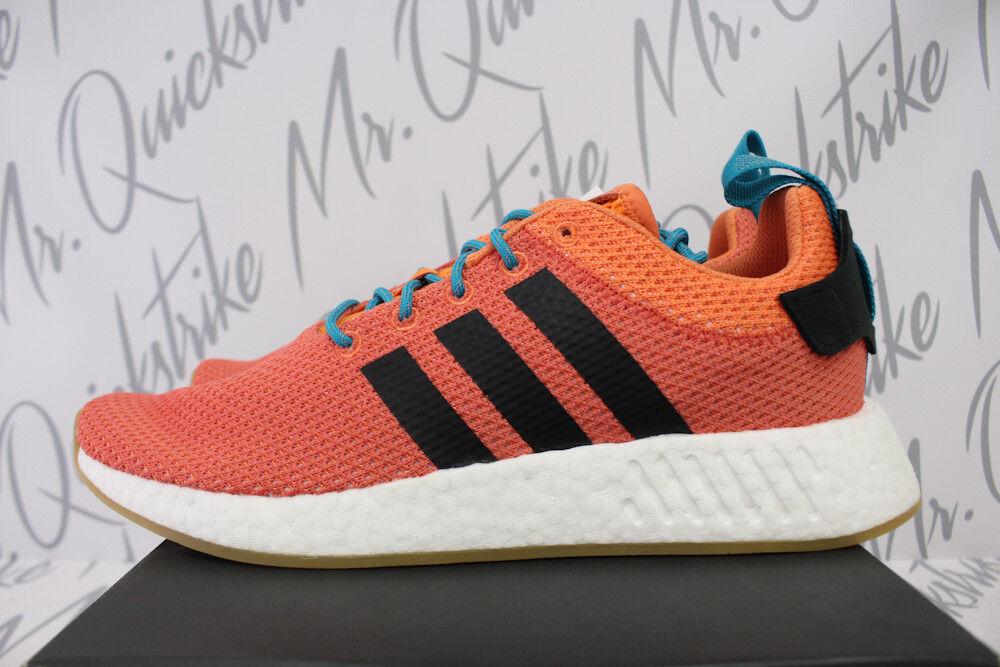 Adidas Originals Nmd R2 Été Sz 11.5 Trace Orange Could Blanc Gomme CQ3081