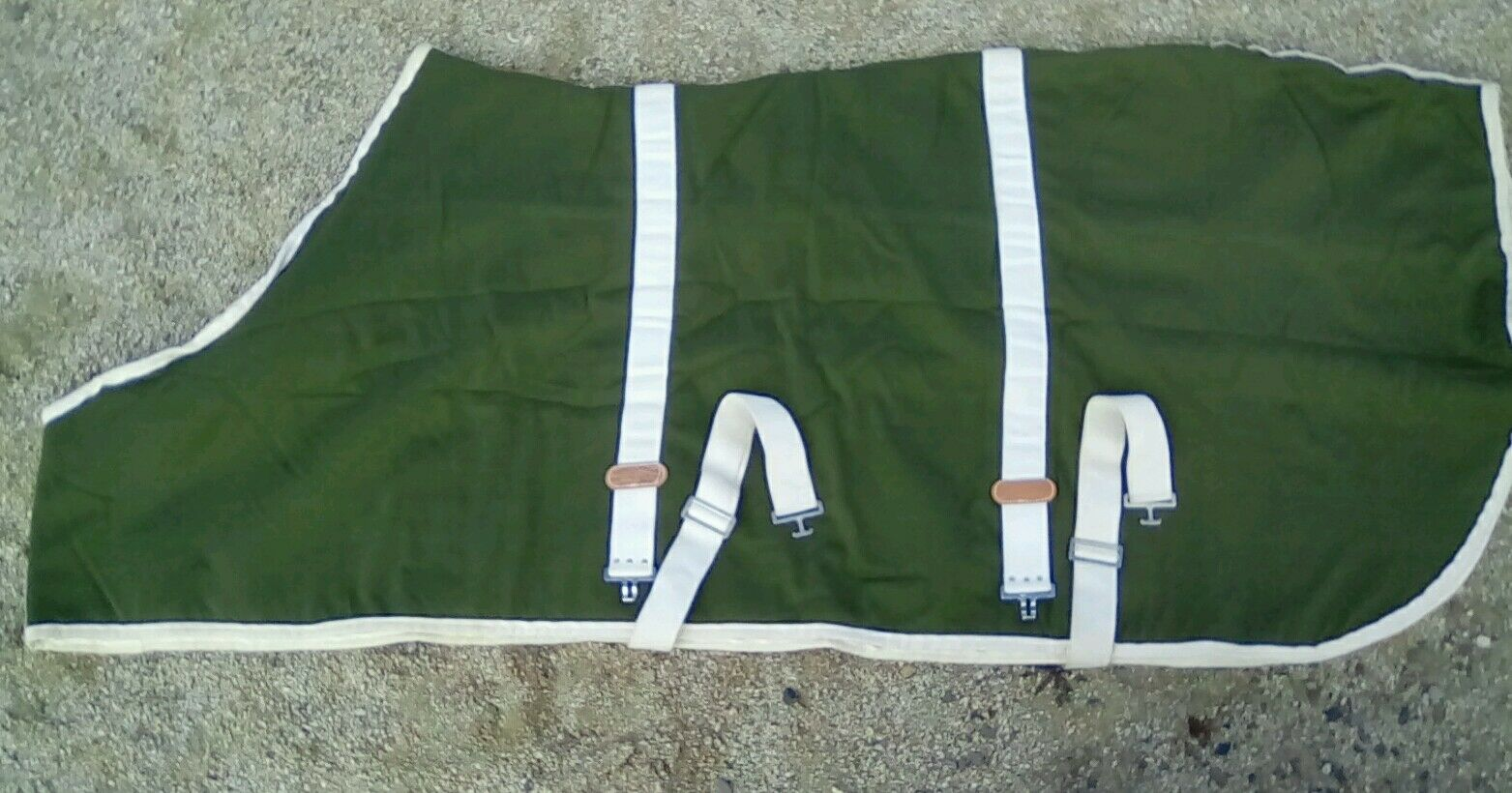 White Stallion Horse  Blanket Cotton Blend Blanket Fleece Lined Green  wholesale prices