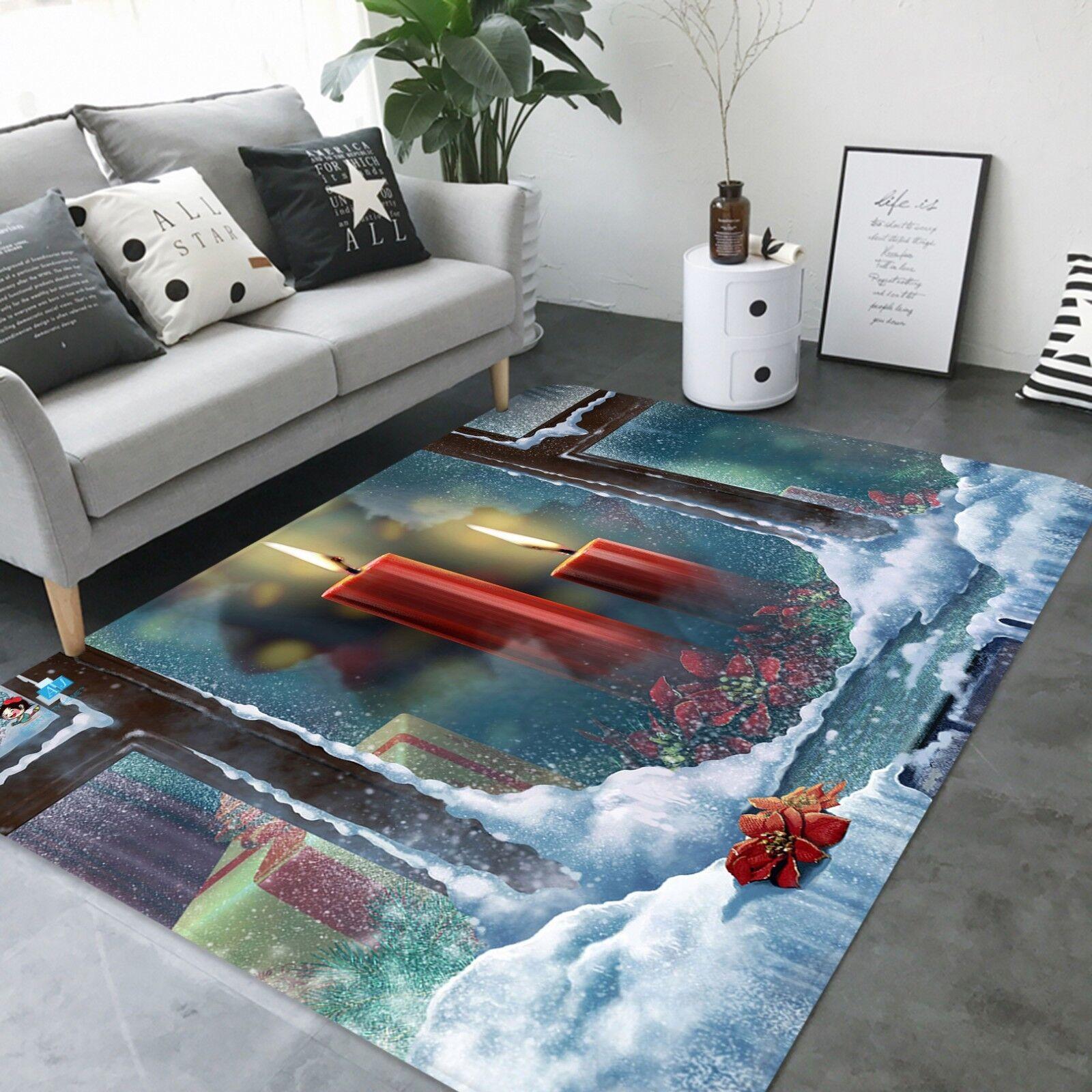 3D Navidad Navidad 416 antideslizante alfombra habitación mat calidad elegante alfombra