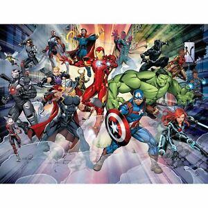 Marvel-Avengers-Decoration-Murale-Walltastic-Garcons-Chambre-Salle-2-44m-X-3-05m