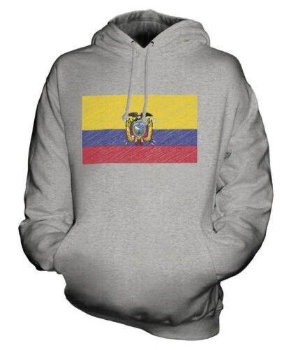 Equateur Griffonnage Drapeau Sweat à Capuche Unisexe Haut Cadeau Équatorien Foot