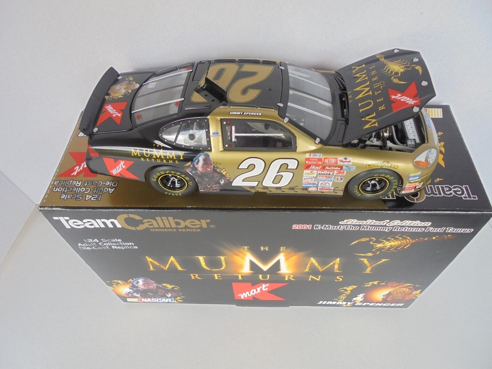 Jimmy Spencer  26 K-Mart THE MUMMY RETURNS 2001 Ford Taurus Terminaison NASCAR Diecast