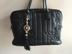 Image Is Loading 3455 Versace Vanitas Demetra Quilt Leather Handbag