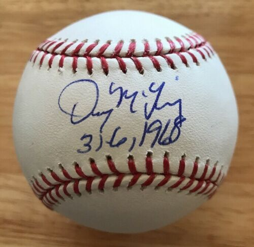 Denny McLain Tigers 31-6 1968 Inscription Signed Official ML Baseball With Proof