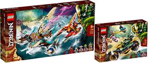 LEGO-Ninjago-71748-Duell-der-Katamarane-71745-Lloyds-Dschungel-Bike-VORVERKAUF