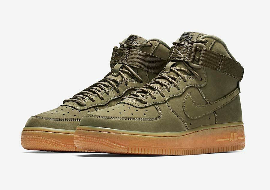 Nike Air Force Neuf 1 High Medium Olive Neuf Force 922066 202, tailles 3 4 5 6 7- Chaussures de sport pour hommes et femmes 359fb2