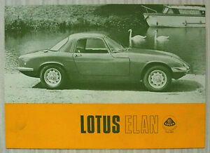 Automobilia Lotus Elan Post Card Brochure Sales Literature
