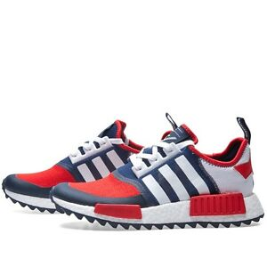 reputable site 1d2bd ec4b3 Details about ADIDAS NMD WM Trail PK White Blue Red Size 9. BA7519 Ultra  Boost Yeezy