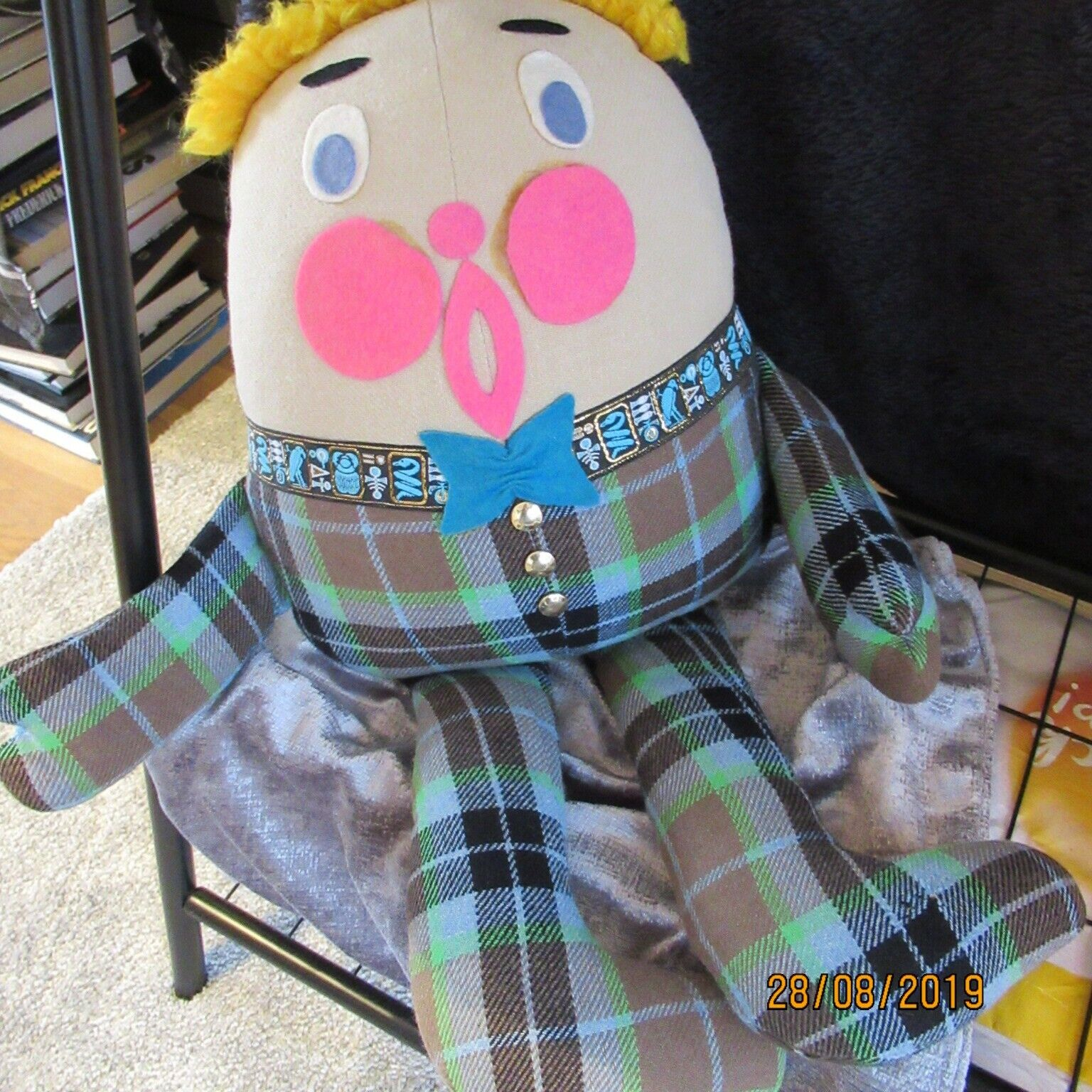 årgång Tartan Humpty Dumpty Av David Scott From1970's