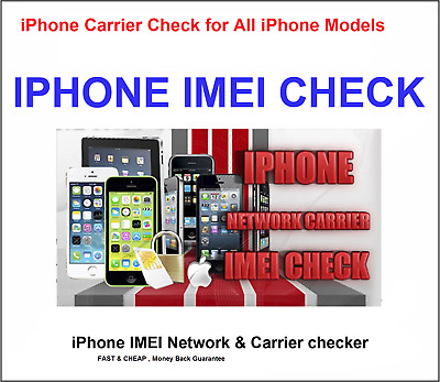 Apple iPhone IMEI checker Network Carrier Check Sim lock status check All  Models | eBay