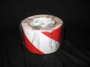 Details about ULine S-16874 Red White Safety Tape 8 5 Mil 3 In  x 36 Yds  -  3 Roll Lot