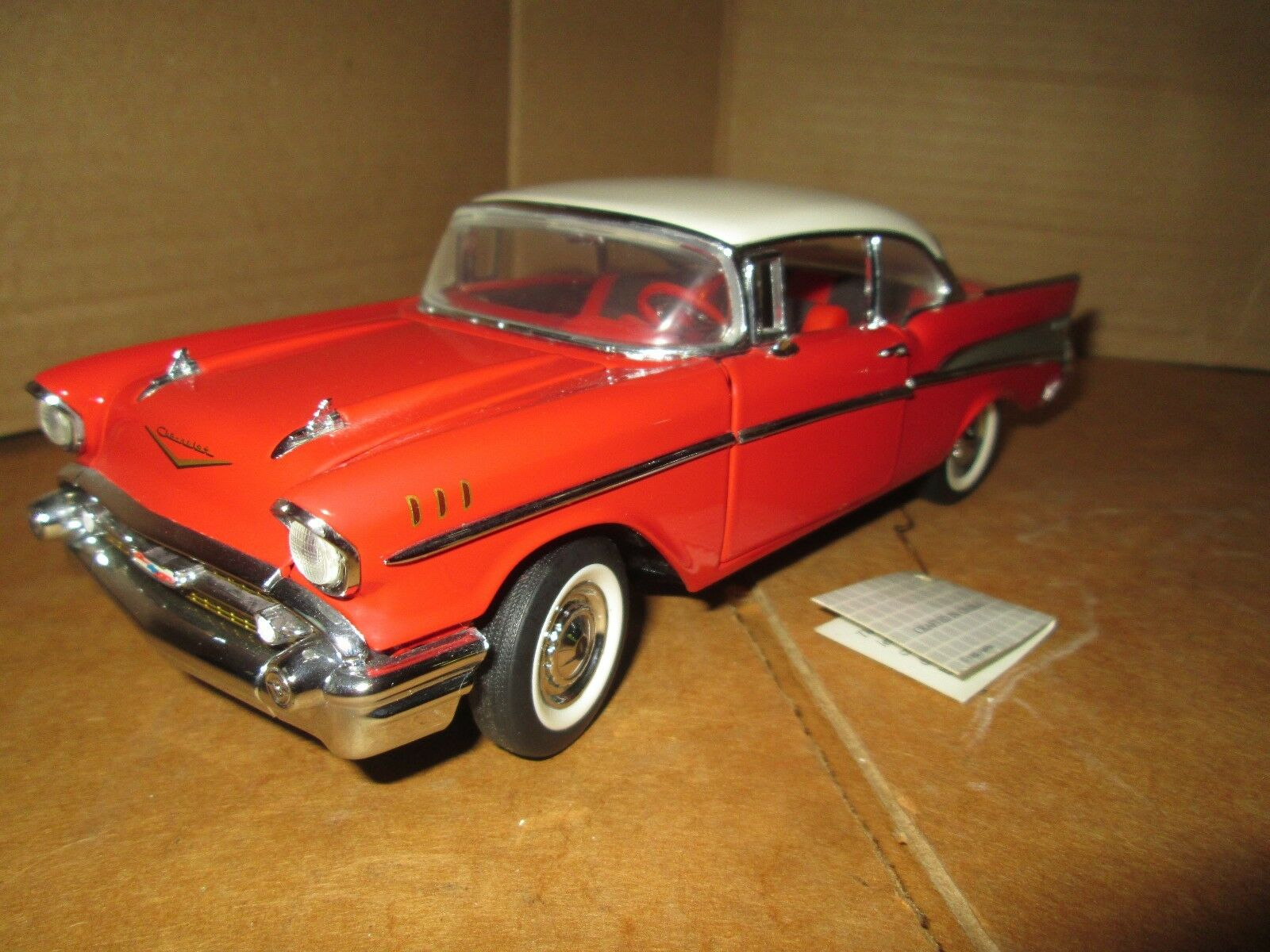 Franklin Mint 1957 chevy 57 belair 1957 1 24 loose display piece