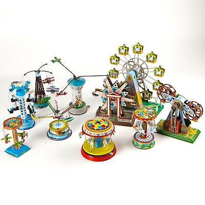 Wind Up Carousel Tin Toy Vintage Fairground Ferris Wheel Collectable Gift Uk Ebay