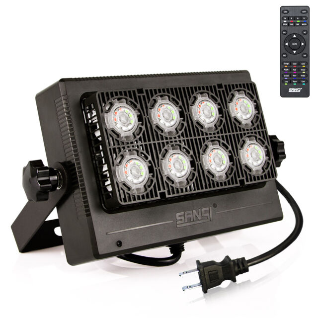 Sansi 50w Rgb Led Flood Light Outdoor 16 Colors Remote Control Memory Function