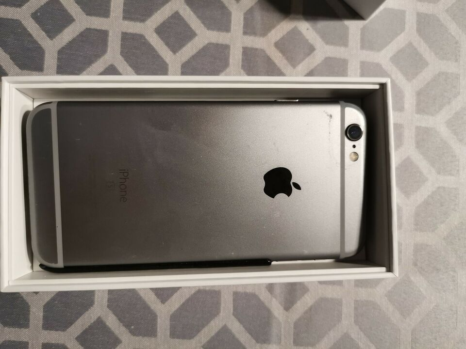 iPhone 6S, 32 GB, sort
