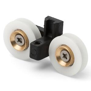 8x Single Bottom Zinc Alloy Steel Shower Door Roller Runner Wheel 19mm Wheel
