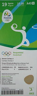 Mint Ticket 19/8/2016 Olympic Games Rio Basketball Men's Spain Vs Usa # A43 Hot Sale 50-70% OFF Sports Memorabilia