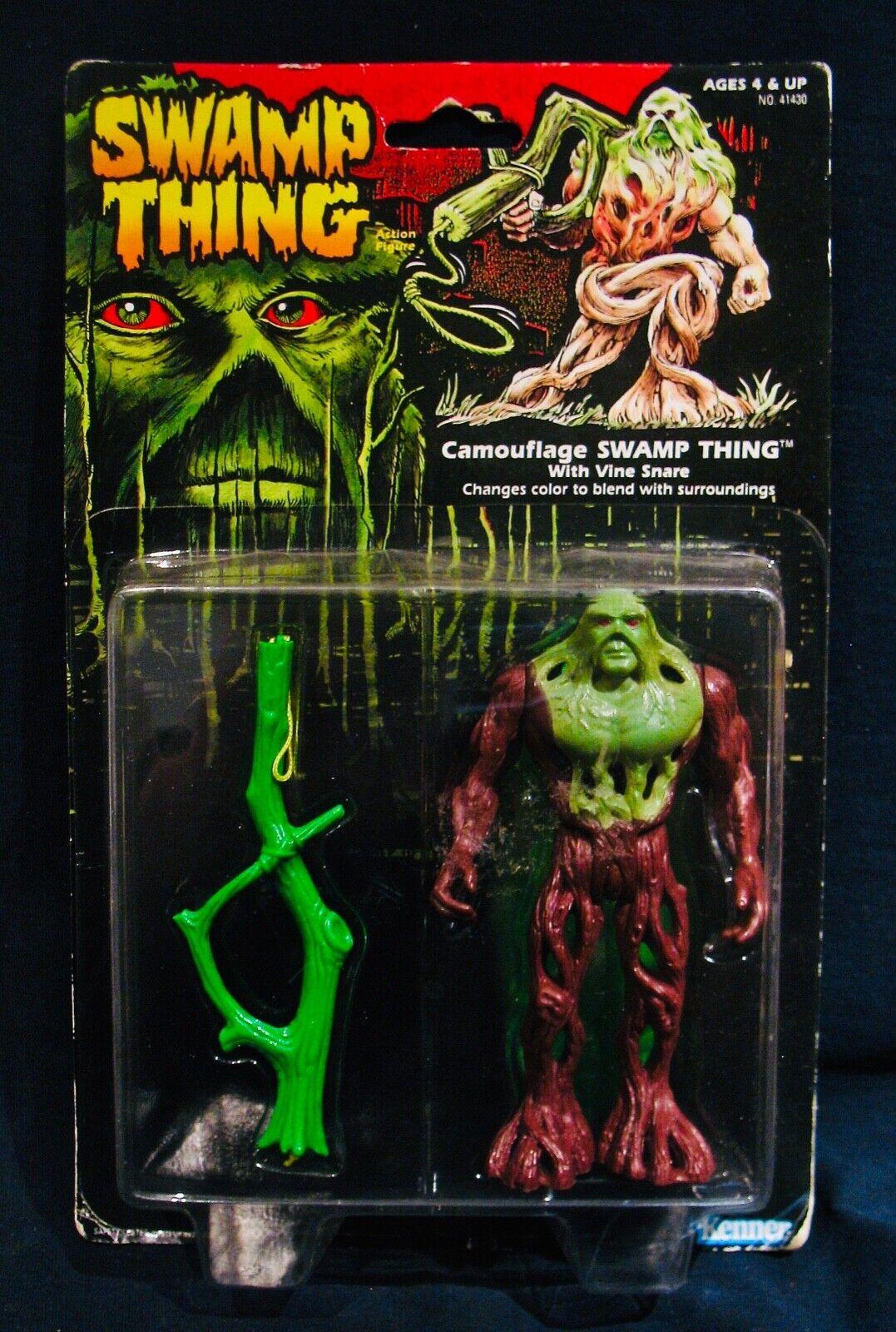 Swamp Thing   figura de acción rara Vid Color Mezcla De Lazo De Camuflaje - 1990 sin abrir