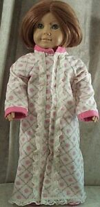 Doll-Clothes-Handmade-American-Girl-18-034-inch-Flannel-Nightgown-Pink-Flowers