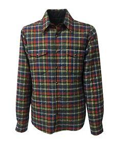 Caricamento dell immagine in corso ASPESI-giacca-camicia-uomo -reversibile-quadri-blu-mod- 153490991ce