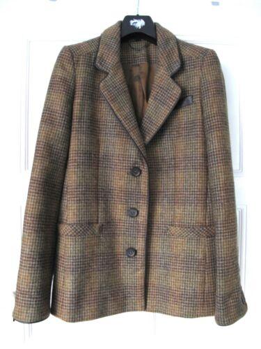 pelle Check in Uk8 con boyfriend finiture giacca Topshop premium Tweed da Giacca equestre B5qUfwz