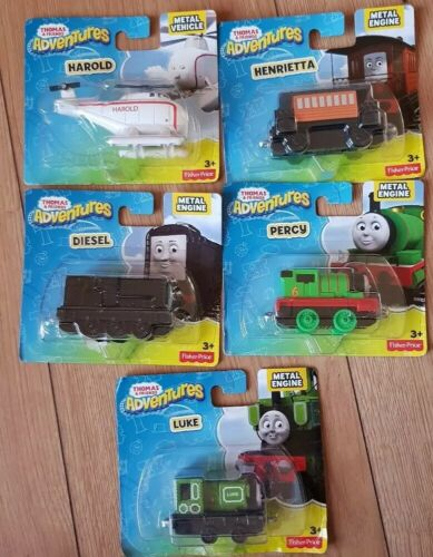 5 Thomas and friends Adventures Engines DIESEL LUKE PERCY HAROLD HENRIETTE NEW