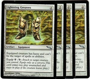 Lightning-Greaves-x4-Magic-the-Gathering-Mirrodin