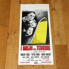 I MAGHI DEL TERRORE locandina poster The Raven Price Karloff Allan Poe AI72