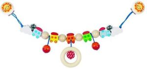 Heimess TOUCH RING RATTLE BEADS /& BELL Baby Wooden Toy BN