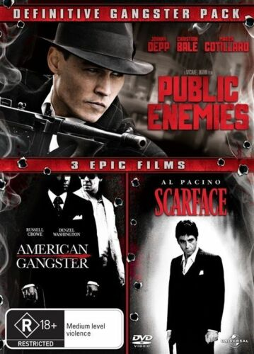 1 of 1 - Public Enemies / American Gangster / Scarface (3-Disc's) : New Gangster DVD Set