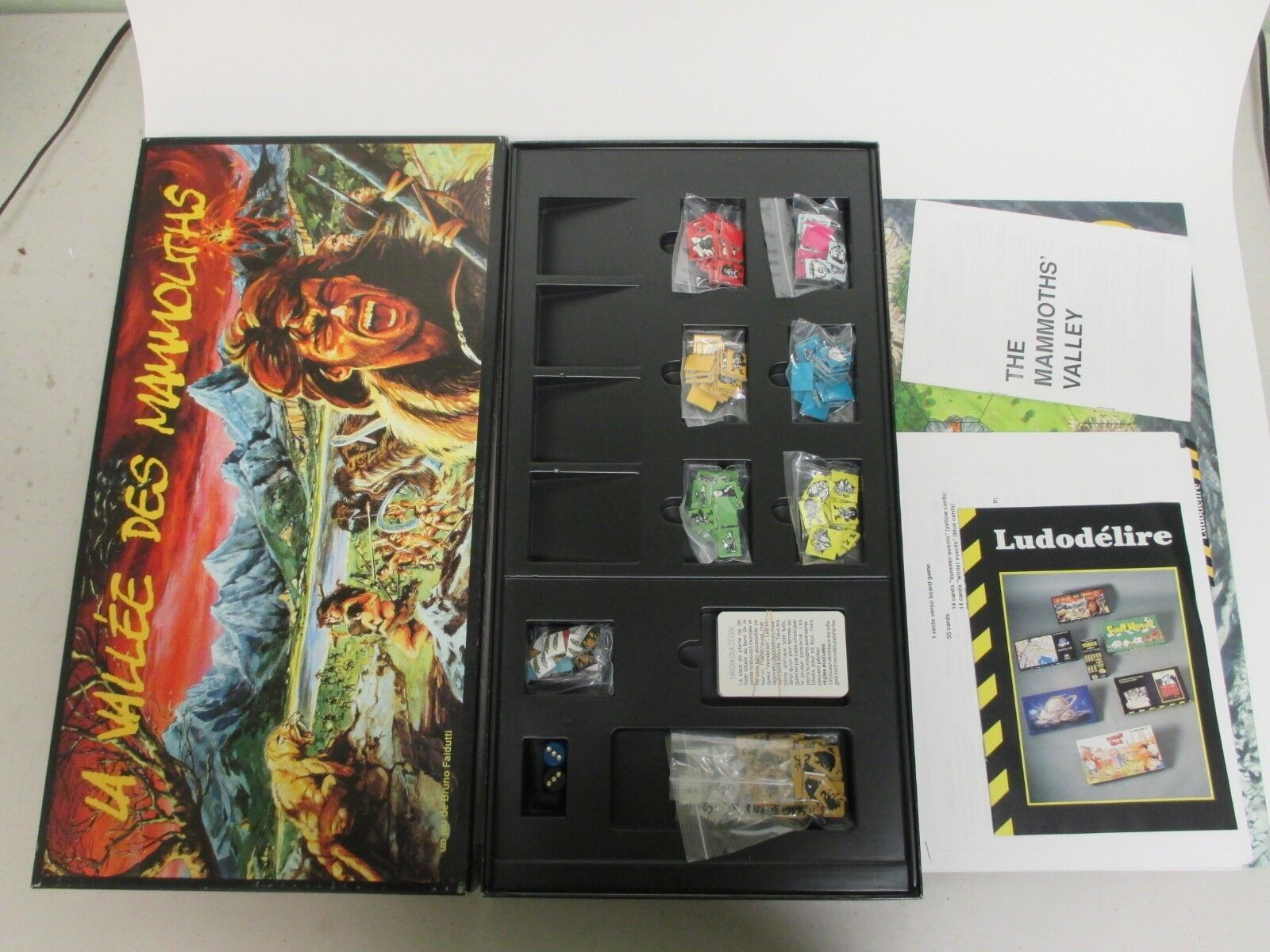 RARE  LA VALLEE DES MAMMOUTHS MAMMOUTHS Valley  Board Game-B Faidutti Ludodelire