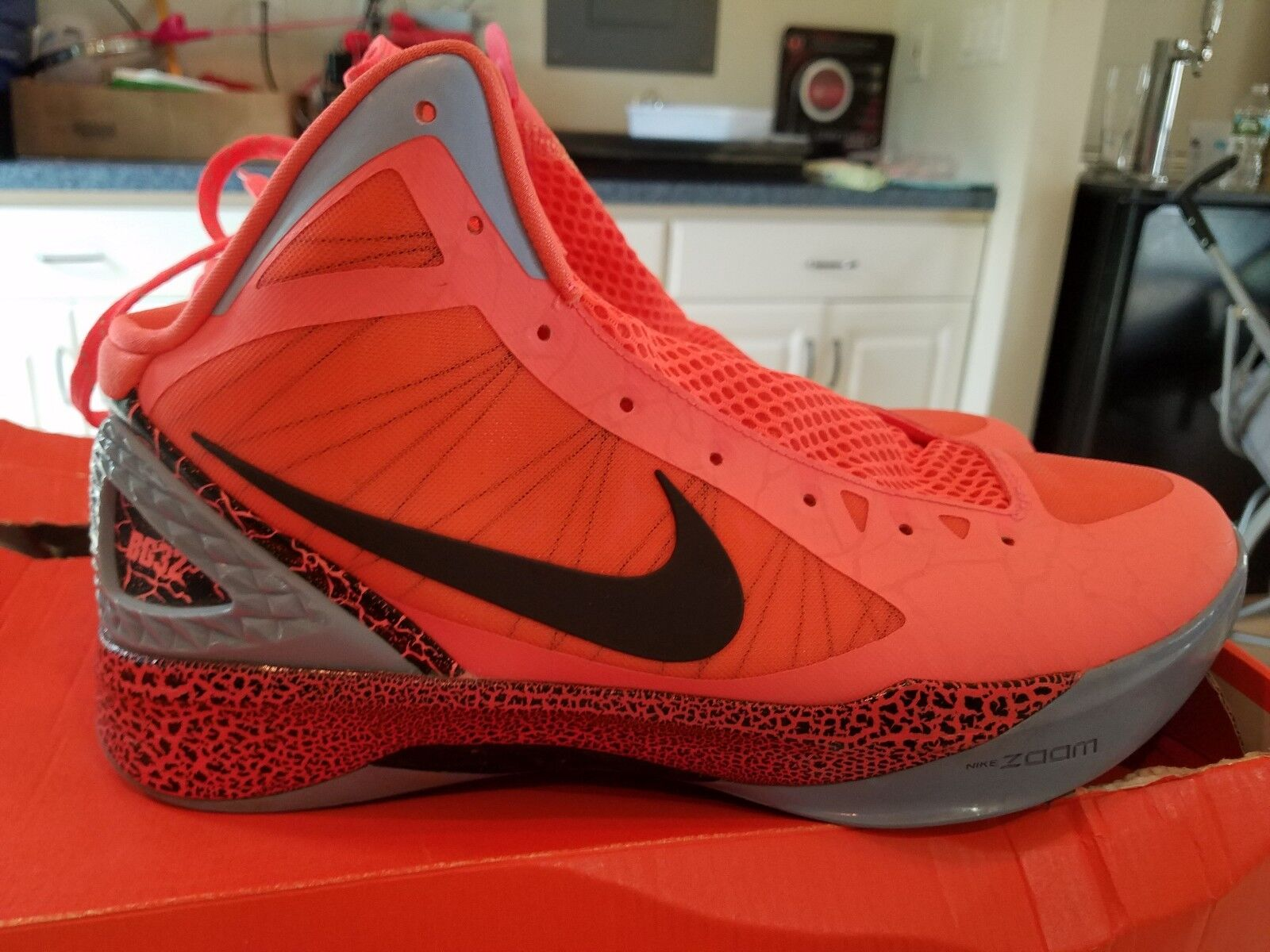 Nike Zoom HYPERDUNK 2011 BG BLAKE GRIFFIN MANGO orange BLACK 484935-800 Size 12