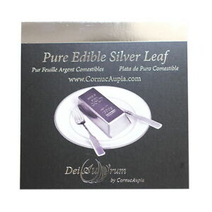 DeiAurum-Pure-Edible-Silver-Leaf-Sheets-Booklet-4-x4-25pcs-in-Loose-Sheets
