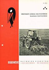 Rabewerk Dreipunkt- Anbau- Kultivatoren, orig. Prospekt 1961