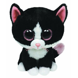 TY Beanie Boos - PEPPER the Black   White Cat (Glitter Eyes) (Medium ... 2ba9cd212dd7