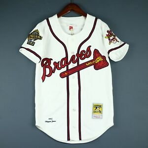 7ff4aa6a0 100% Authentic Chipper Jones Mitchell Ness 95 Braves MLB Jersey Size ...