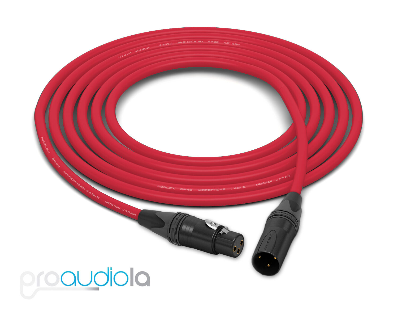 Mogami 2549 Cable   Neutrik Gold XLR-F XLR-M   rot 50 Feet   50 Ft.   50'