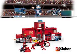 Sluban Racing Bausset - Formula 1 Station - M38-b0375 - 557 Pieces - Nip