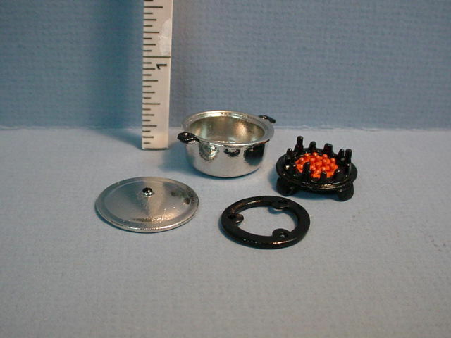Dollhouse Miniature Elegant Jeweled Silvertone Goblet J059