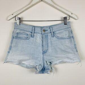 Abercrombie Fitch Pantalones De Mezclilla Para Mujer Talla 6 W28 Azul Claro Con Aspecto Envejecido Ebay