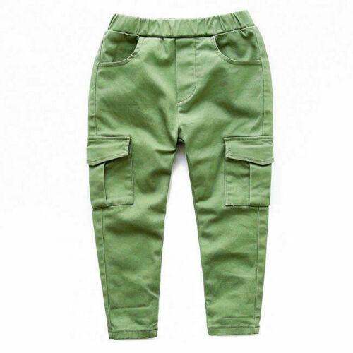 Boy Trousers Autumn Winter Casual Pants Children/'s  Cotton Trousers 1485HC
