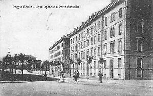 Cartolina-Postcard-Reggio-Emilia-Case-Operaie-Porta-Castello-1924