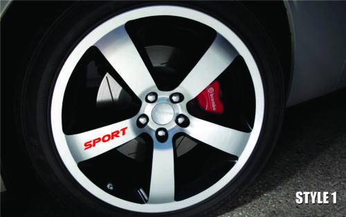 Truck Vinyl Sticker Decal Wheel Racing Rim Emblem Logo Set of 4 Car SPORT