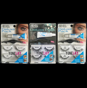 7b981e5be7d 2 Pairs ARDELL Deluxe Pack False Eyelashes Applicator & Clear Lashes ...