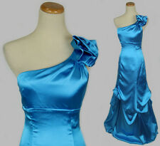 Blondie Nites $190 Evening Prom Formal Junior Gown Dress size 3 Blue 1 Shoulder