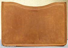 "EUC Genuine Saddleback Leather Retired MACBOOK PRO SLEEVE MEDIUM 15"" in Tobacco"