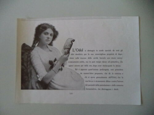 advertising Pubblicità 1912 DENTIFRICIO ODOL