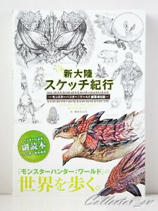 3-7-Days-Monster-Hunter-World-Editor-039-s-Sketch-Art-Book-from-JP